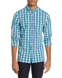 Lacoste Regular Fit Plaid Poplin Sport Shirt