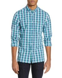 Lacoste Slim Fit Plaid Poplin Sport Shirt
