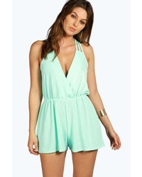 Boohoo Alena Strappy Wrap Front Playsuit