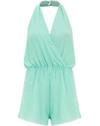 Mint halter neck playsuit medium 70715