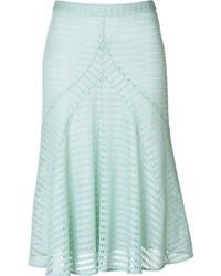 Mint Pleated Midi Skirt