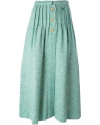 Courrges Vintage Buttoned Knit Skirt