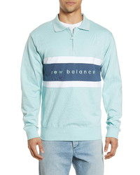 New Balance Prep Stripe Zip Rugby Shirt