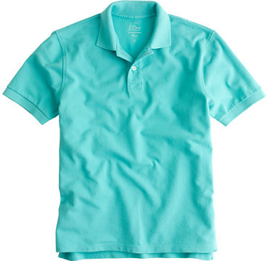 Mint polo j crew classic piqu polo shirt where to buy for Mint color polo shirt