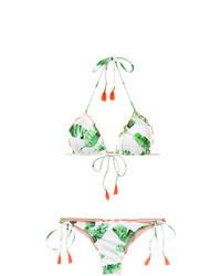 Mint Print Bikini Top