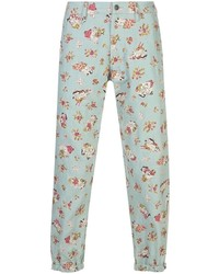 Gucci Lovers Print Cropped Jeans