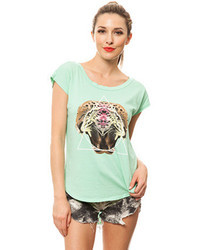 Mint Print Crew-neck T-shirt