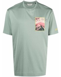 Z Zegna Logo Patch Cotton T Shirt