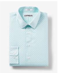 Mint Print Dress Shirt