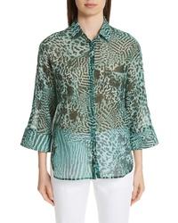 Max Mara Prati Print Cotton Silk Shirt