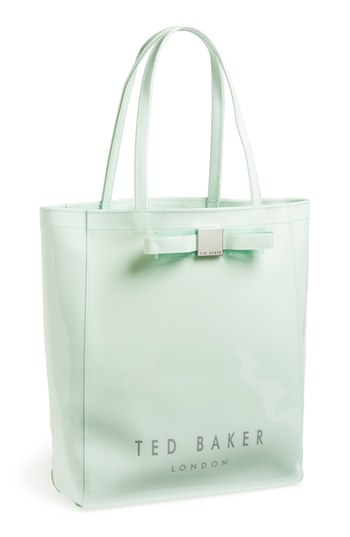 Bow Icon Tote Mint Print Leather Bag By Ted Baker London