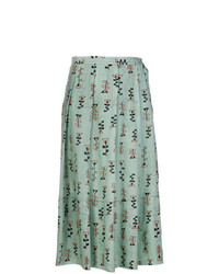 Marni Novelty Print Pleated Skirt