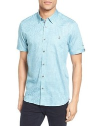 Mint Print Short Sleeve Shirt