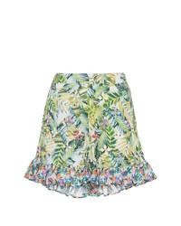 All Things Mochi Baila Tropical Print Ruffle Shorts