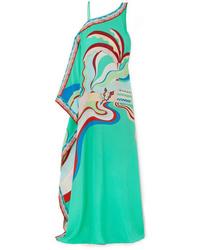 Emilio Pucci Printed Silk De Chine Maxi Dress