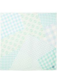 Frayed gingham silk scarf mint medium 6987200