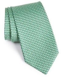 Salvatore Ferragamo Heart Print Silk Tie