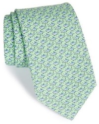 Vineyard Vines Shark Print Silk Tie