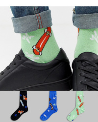 Mint Print Socks