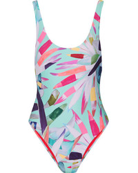 Mara Hoffman Marimba Printed Swimsuit Mint