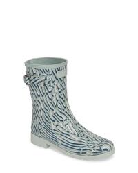 Hunter Original Coral Print Refined Short Waterproof Rain Boot