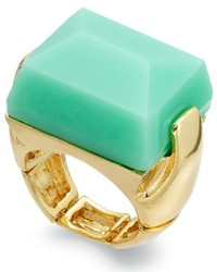 Bar III Gold Tone Mint Stone Stretch Ring