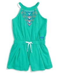 Roxy Summer Rain Embroidered Romper