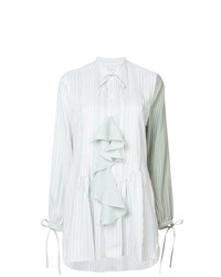 JW Anderson Ruffle Front Striped Blouse
