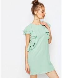 Asos Ruffle Front Mini Shift Dress