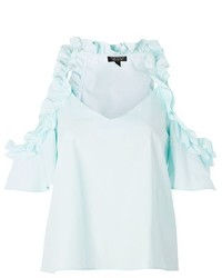 Topshop Ruffle Cold Shoulder Camisole Top