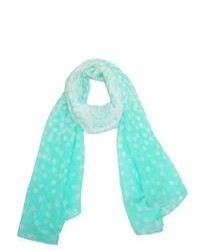 CTM Fading Polka Dot Scarf Mint One Size