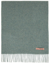 Acne Studios Green Wool Narrow Scarf
