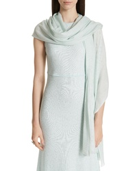 St. John Collection Sequin Silk Wool Wrap