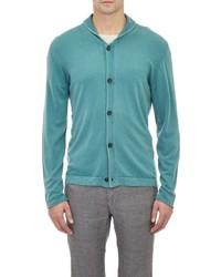 Cashmere shawl collar cardigan green medium 334745
