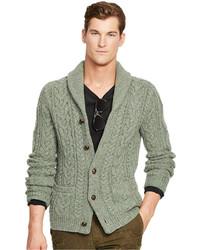 Wool cable knit cardigan medium 331799