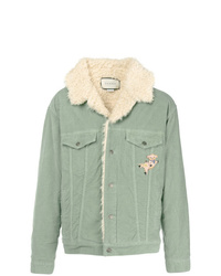 Gucci Shearling Lined Corduroy Jacket