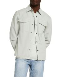 River Island Washed Twill Snap Shirt Jacket