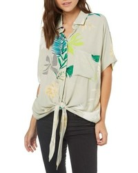 O'Neill Moore Print Tie Front Shirt