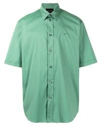 Emporio Armani Logo Embroidered Short Sleeve Shirt