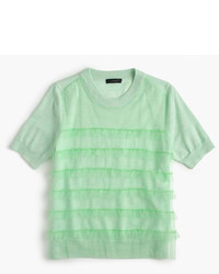 J.Crew Tippi Short Sleeve Sweater With Tulle