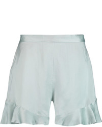 Zimmermann Ruffled Brushed Silk Shorts