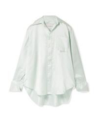 Matthew Adams Dolan Oversized Silk Charmeuse Shirt