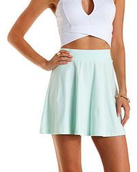 Charlotte Russe Cotton Skater Skirt