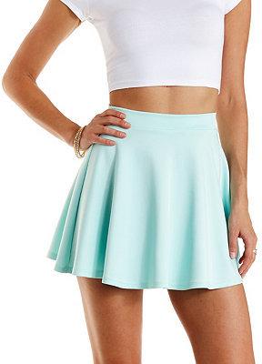bcd215c804 Charlotte Russe Scuba Knit Skater Skirt, $16 | Charlotte Russe ...