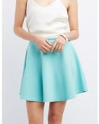 Charlotte Russe Textured Skater Skirt