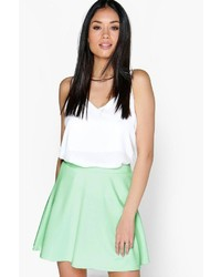 Boohoo Roseanna Fit And Flare Skater Skirt