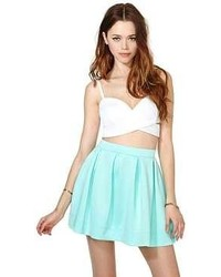 Scuba skater skirt mint medium 55113