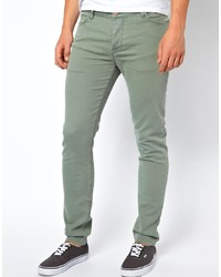 Asos Skinny Jeans In Light Green