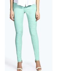 Boohoo Evie Polka Dot Skinny Jeans