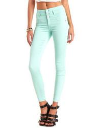 Charlotte Russe Refuge Hi Waist Super Skinny Colored Jeans
